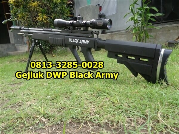 Senapan Gejluk Dual Power Laras Baja Black Army